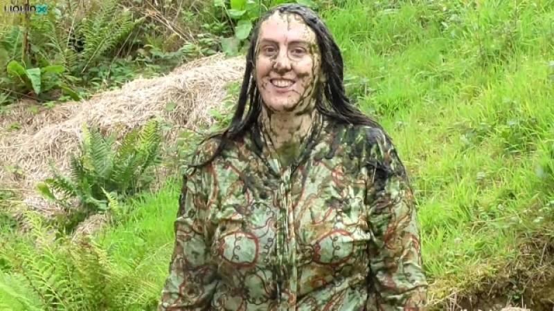Michaela in Mud Bath