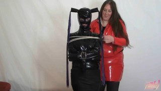 Louise in Rubber Straitjacket