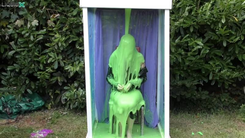 Janey Gunged in Green Dress