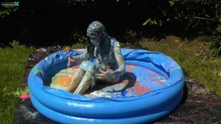 Clara Gets Messy in a Pool with Pies, Gunge & Slime