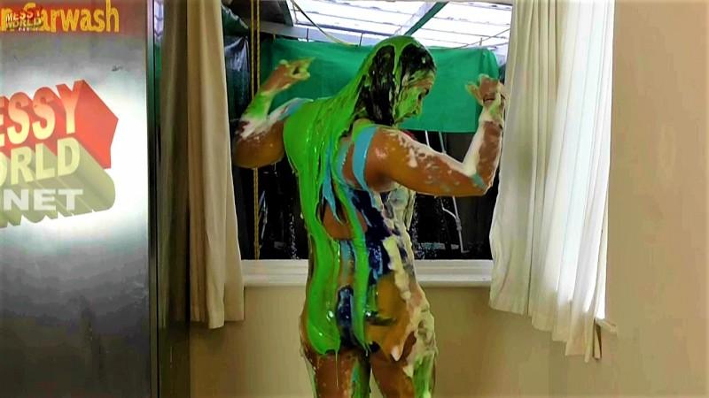 Human Carwash: Kim in Swimwear