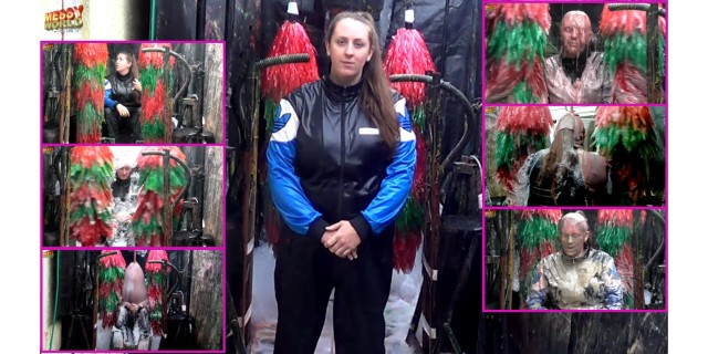 Human Carwash: Michaela in Adidas Outfit