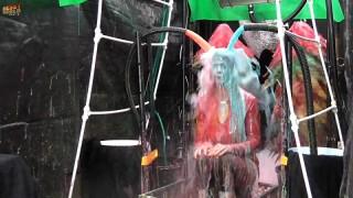 Human Carwash: Olivia Gunged in Red Dress