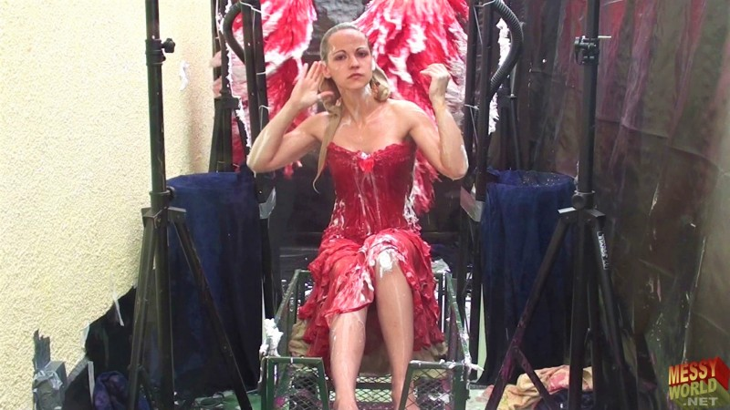 Human Carwash: Tamsin in Red Lingerie