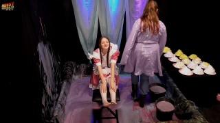 Janey Gunged & Pied in Maids Dress