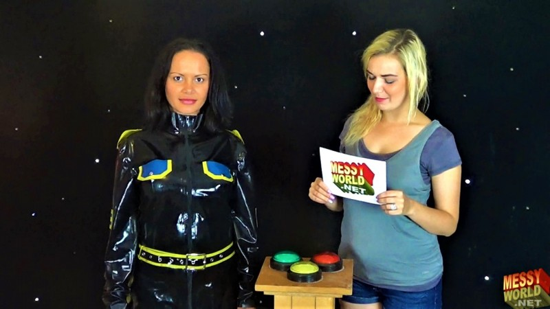 Human Carwash: Louise in Rubber Military Catsuit