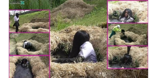Naomi in Mud Pit