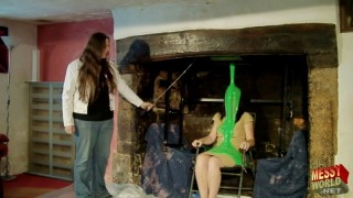 Samantha Gunged in The Grand Fireplace
